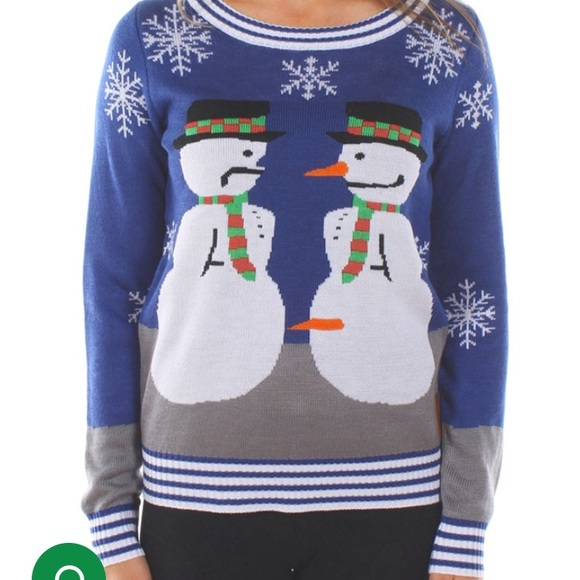 59e63440 tipsy elve Sweaters | Ugly Christmas Sweater Naughty Snowman | Poshmark
